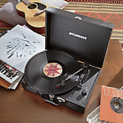 briefcase style turntable by sylvania