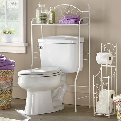 Ivory Leaf Space Saver and Toilet Paper Holder