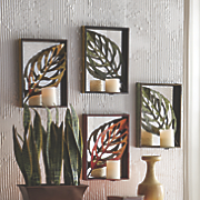Set of 4 Leaf Wall Sconces