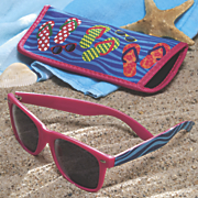 flip flop sunglasses with case