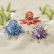 glow octopus glass figurine