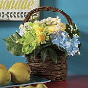 lighted hyndrangea basket