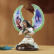 lighted indian maiden figurine