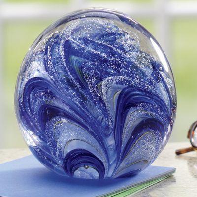 Blueberry Snow Cone Glass Glow Ball