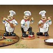 3 pc  utensil chef figurines