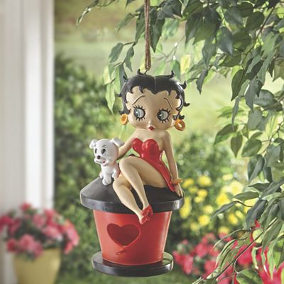 Betty Boop Faux Birdhouse Hanging Art