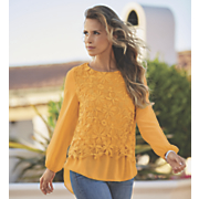 lace crochet chiffon top