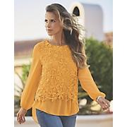 lace crochet chiffon top
