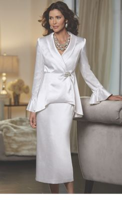 Diamond Peplum Suit