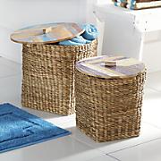 set of 2 pavati woven baskets