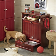 Beadboard Dog Cabinet