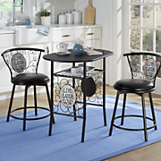 3 pc  live laugh love bistro set