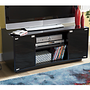Curved Front 2-Door TV Stand