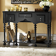 spindle console table