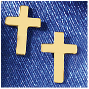 14k gold cross post earrings