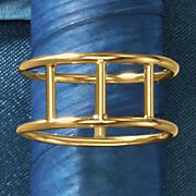 14k gold open bar ring