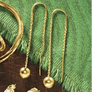 ball threader earrings