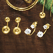 ball post and cubic zirconia earrings