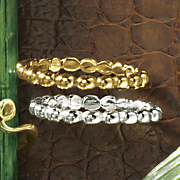 2 pc  beaded stacking rings