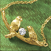cubic zirconia birds necklace
