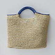 Hand-Crocheted Paper Straw Handbag