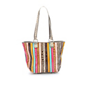 kristin multicolored stripe leather tote by marc chantal