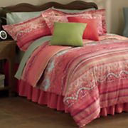 cancun comforter set  pillow and window treatments
