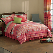 Cancun Comforter Set, Pillow and Window Treatments