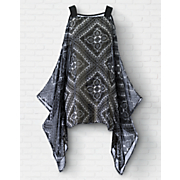 scarf noir top
