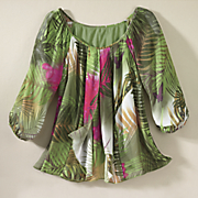 rainforest faux flyaway top