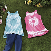 lace up tie dye tank 1