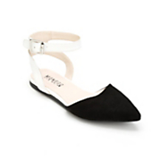 Two-Tone Thea Buckle Flat by Monroe and Main