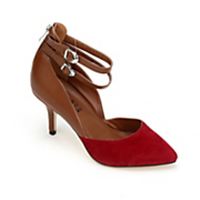 Red Tipped Buckle Shoe by Monroe & Main