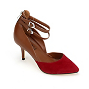 Red Tipped Buckle Shoe by Monroe and Main