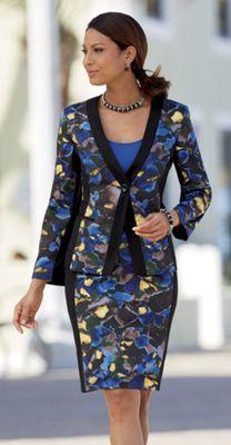 Smudge Floral Suit