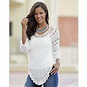 3 4 length sleeve crochet top