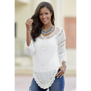 3/4-Length Sleeve Crochet Top