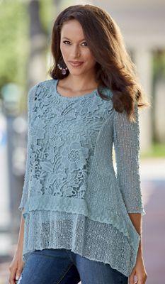 Simply Natural Crochet Top