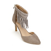 Lulu Ankle Fringe Heel by Monroe and Main