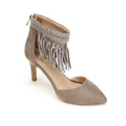 Lulu Ankle Fringe Heel by Monroe and Main