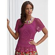 full circle crochet top