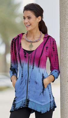 Tie-Dye Knit Jacket