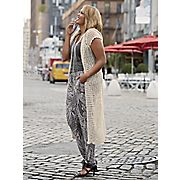 hooded crochet duster