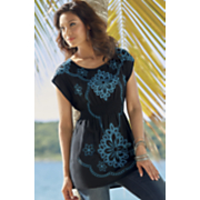 Embroidered with Elastic Tunic