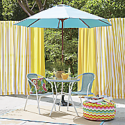3-Piece Wicker Bistro Set and Market Umbrella