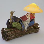 solar relaxing garden gnome