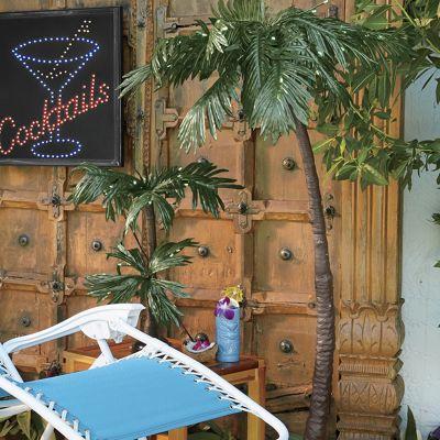 Aloha On The Mainland Large Lighted Palm Tree