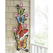 solar butterfly wall decor