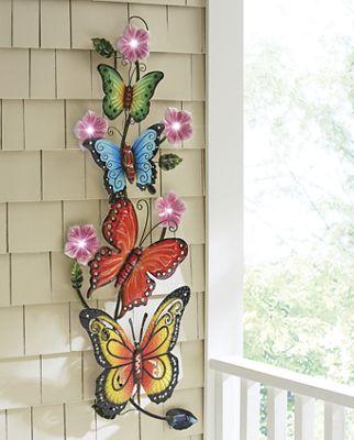 Solar Butterfly Wall Décor