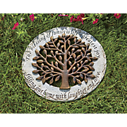 sentimental tree stepping stone